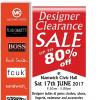 Designer Clearance Sale 17 June 2017