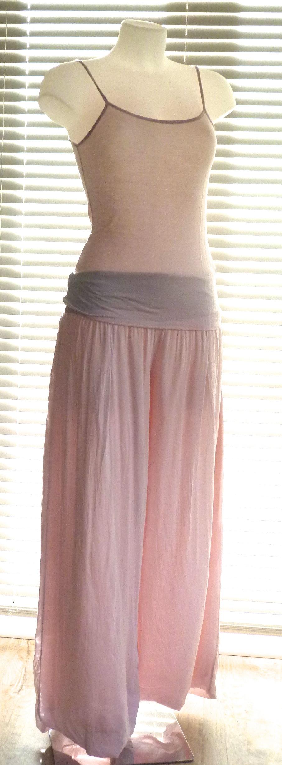 Floaty-doppio-strato-pantaloni-con-cintura-in-morbido-jersey