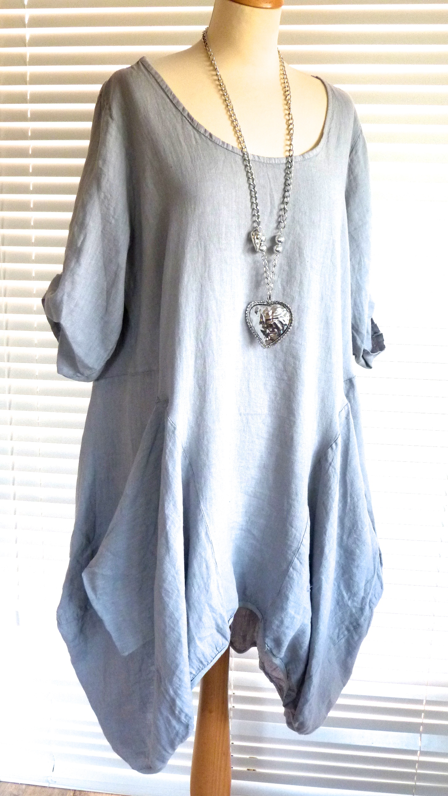 Fab italian linen lagenlook quirky tunic dress perfect for Shirts made in italy