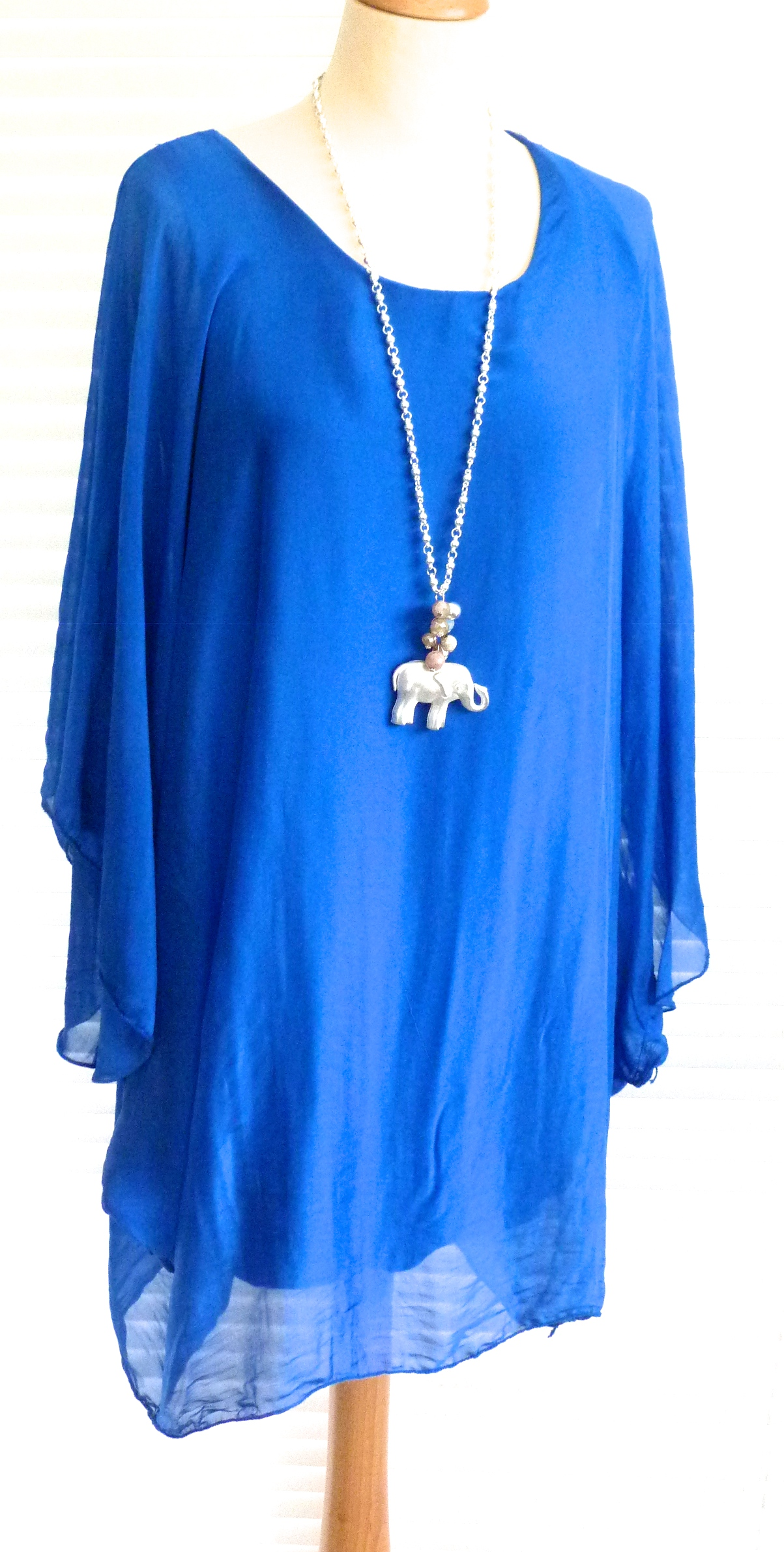 Gorgeous Italian Silk Floaty Top Hetty Ebay