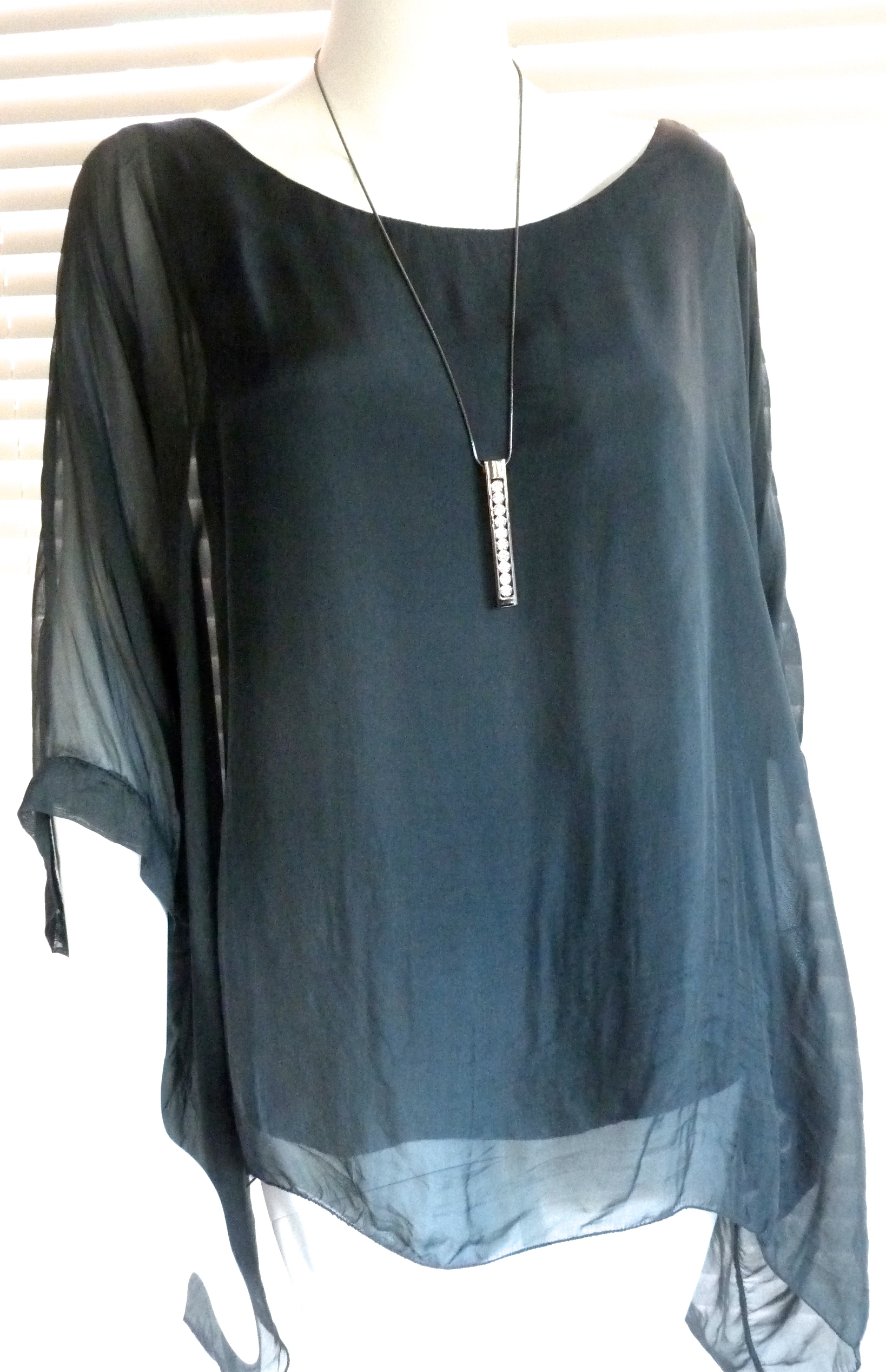 Classic Italian Silk Floaty Top With Sleeve Julia Ebay
