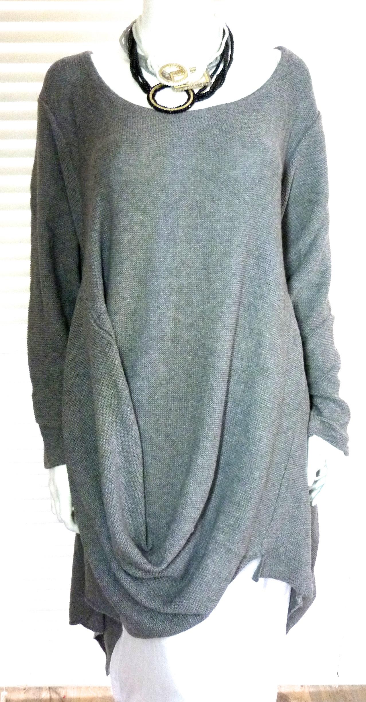 Fantastic Italian lagenlook designer knit tunic – Celia
