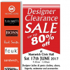 Designer Clearance Sale 17 June 2017