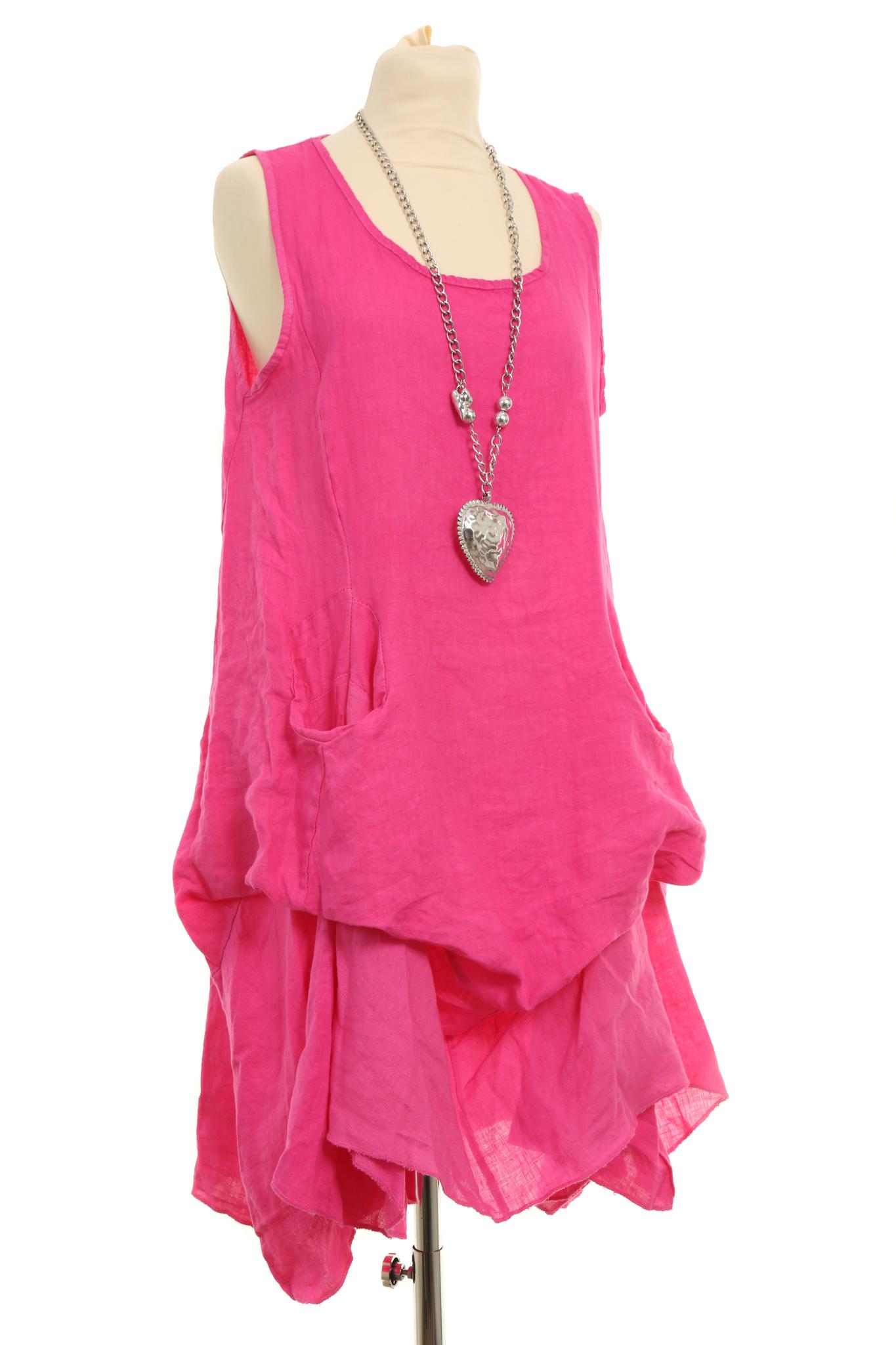 29334877d43 Gorgeous Italian linen lagenlook tunic dress quirky mock pocket detail -  Saffy - BoutiqueJ2S