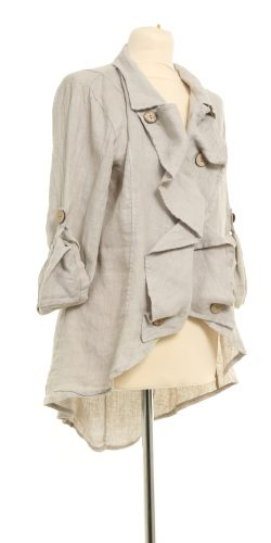 8ce7026237e Gorgeous New season Italian lagenlook linen ruffle front Jacket – Kelly