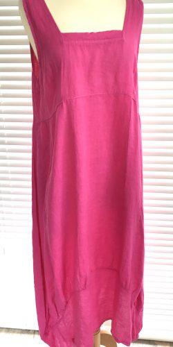 22a5bd10f08 Fab Italian Linen Lagenlook Quirky longer length Dress – Sheena – Regular