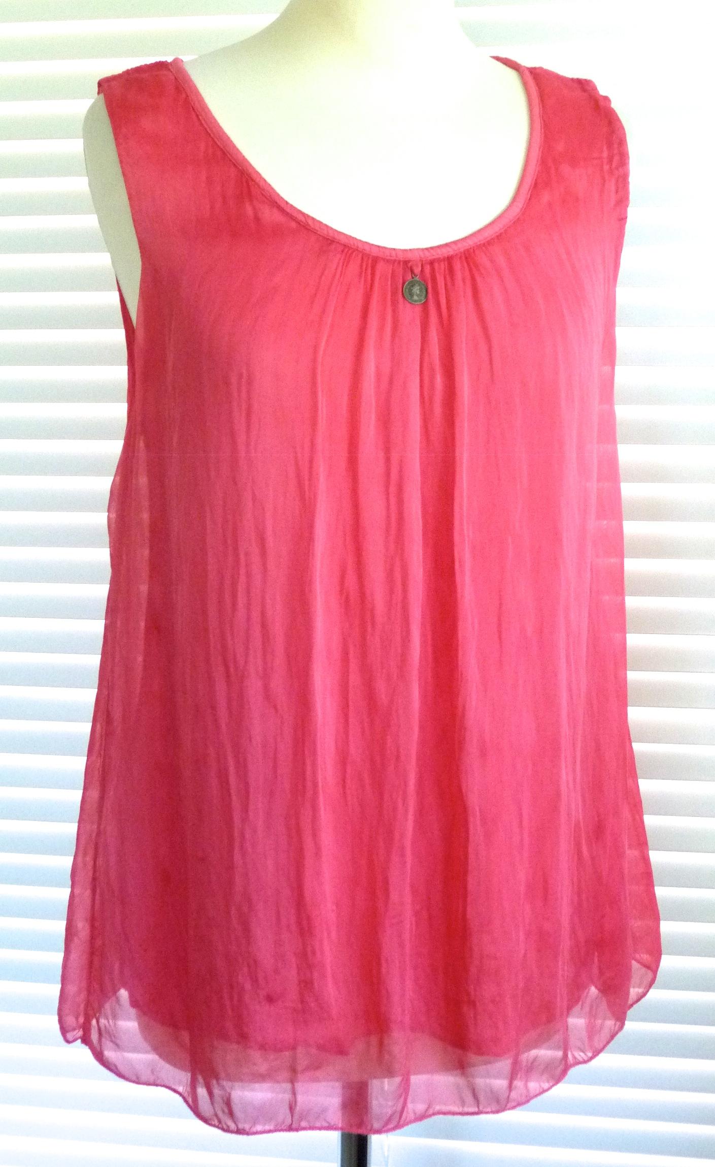 Outlet New Jersey >> Beautiful sleeveless Italian silk floaty top - Sienna ...