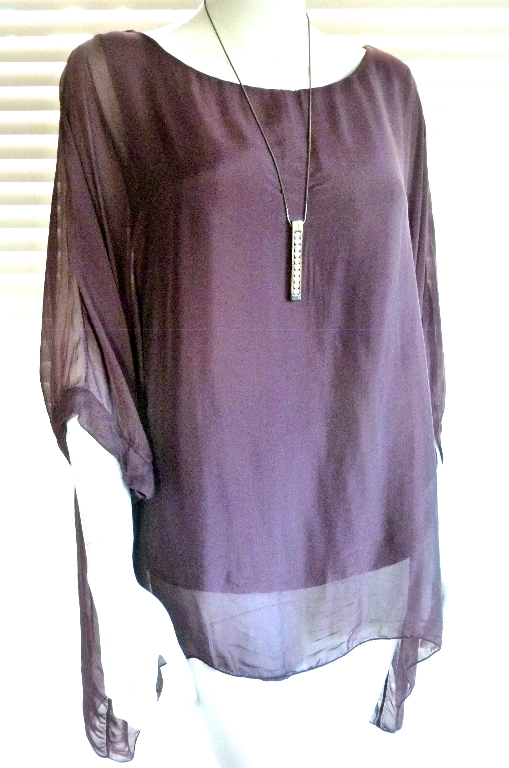 7c0e086830ed8 Classic Italian silk floaty top with sleeve - Julia (now with new ...