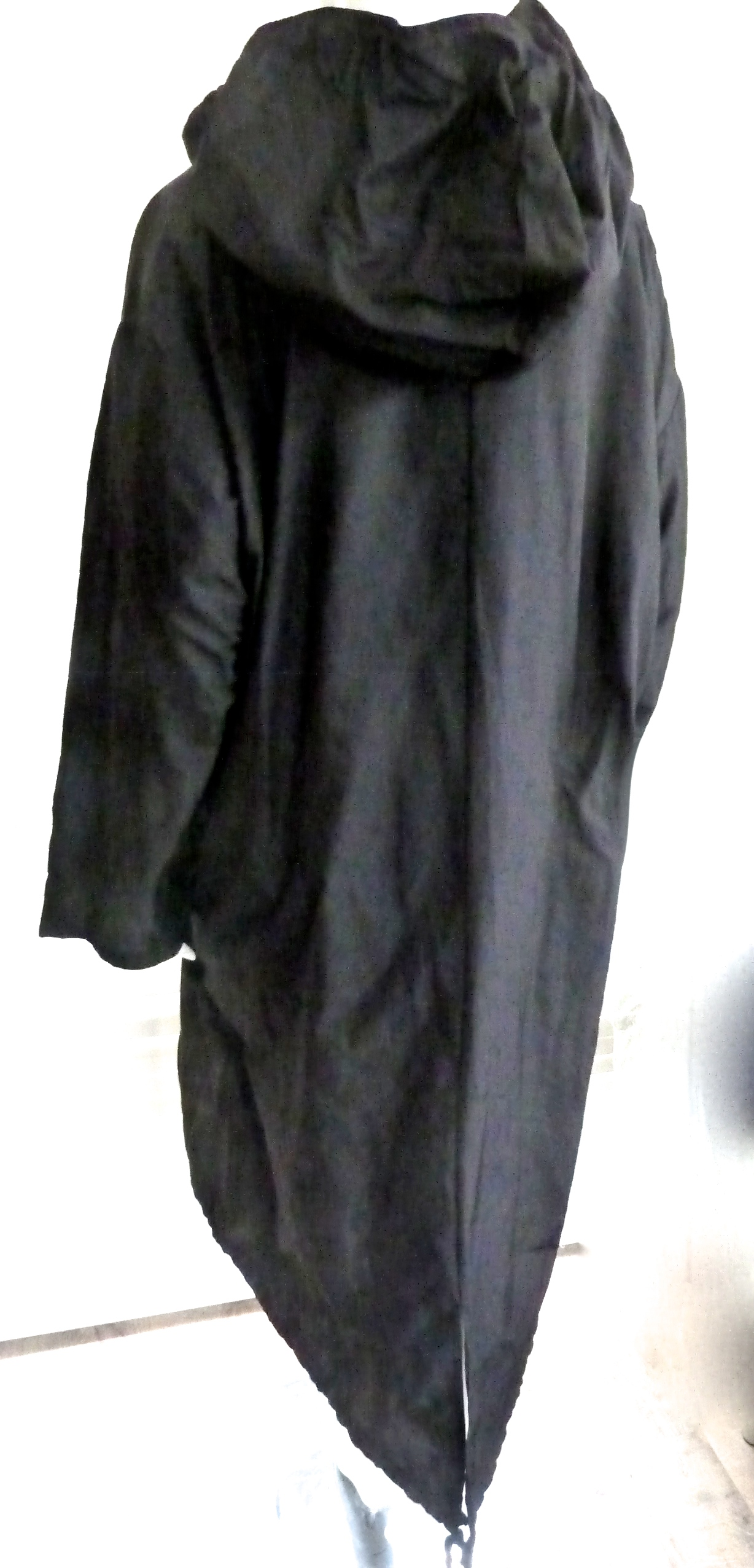 Superb Lagenlook Luukaa Taffeta Designer Parka Style Coat