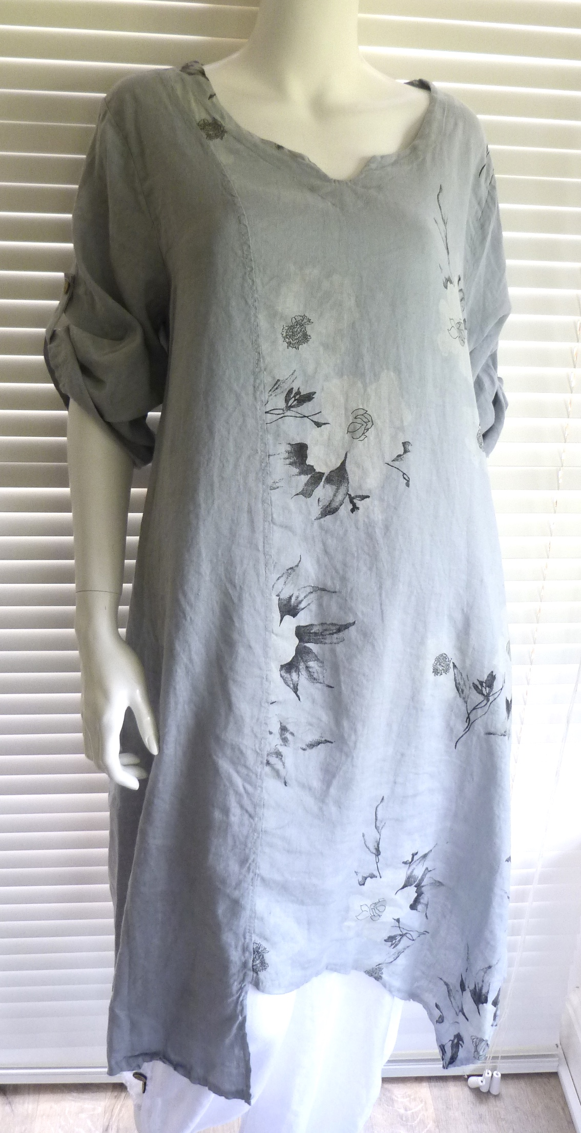 gorgeous italian linen lagenlook plus size dress with
