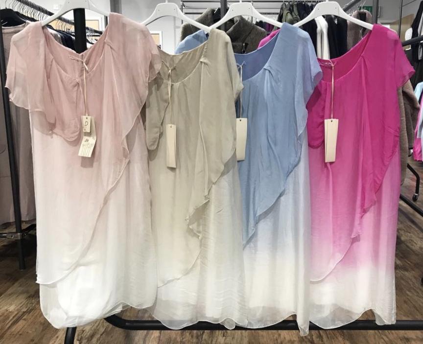 Gorgeous Italian silk floaty layered dress - Kizzy - BoutiqueJ2S
