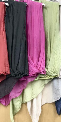 acbbf0137c6 Beautiful sleeveless Italian silk wrap style asymmetric top – Louisa