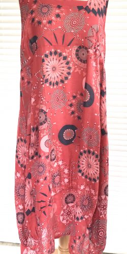 3ffc7482a49 Fab Italian Linen Lagenlook quirky long length abstract print Plus size  Dress – Maisie