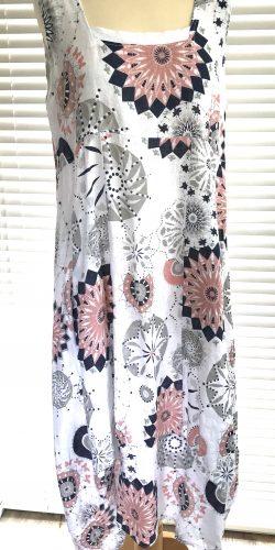 f7594dc3a84 Fab Italian Linen Lagenlook quirky long length abstract print Regular size  Dress – Maisie