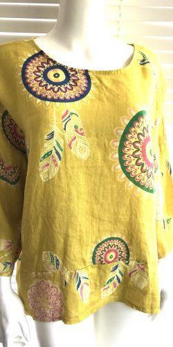 70db1877af6 Super easy fit Italian linen lagenlook print top – Debbie