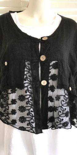 0f75da94e8b Stunning Plus Size Italian lagenlook linen and lace Jacket – Jane